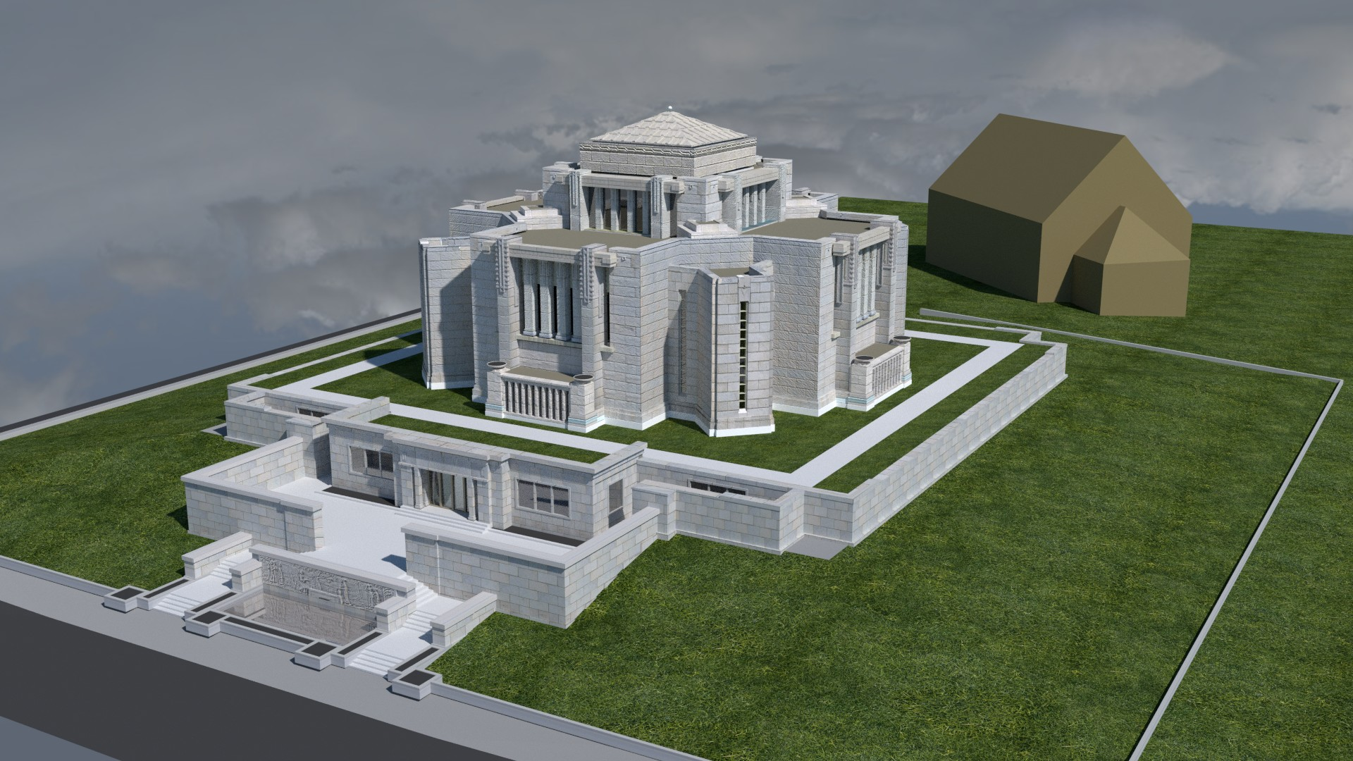 Cardston Alberta Temple image1923