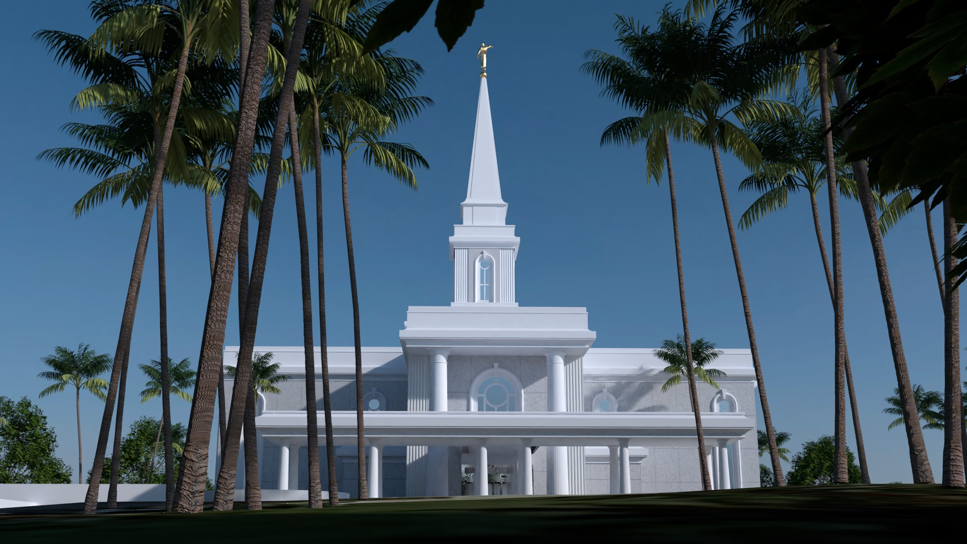 Preston England Temple model Alternate View
