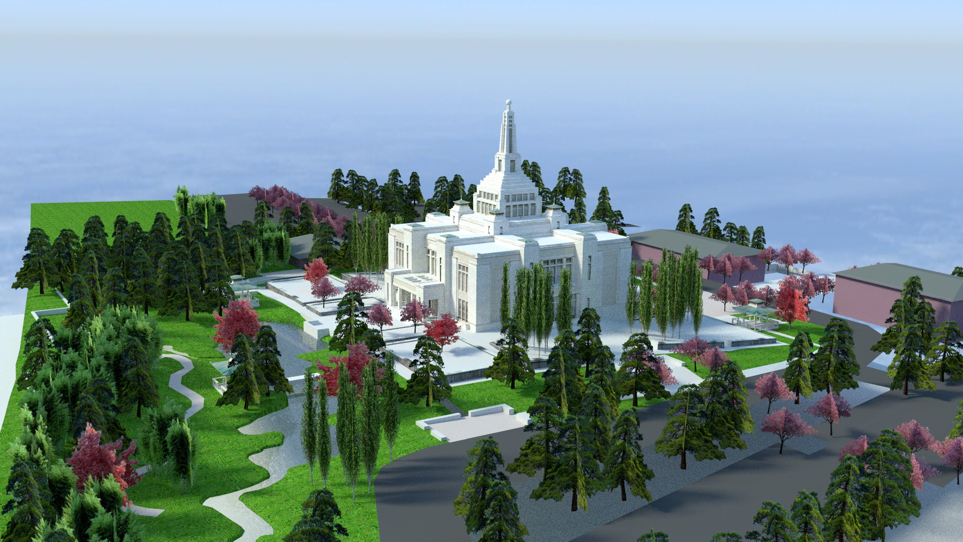Sapporo Japan Temple render