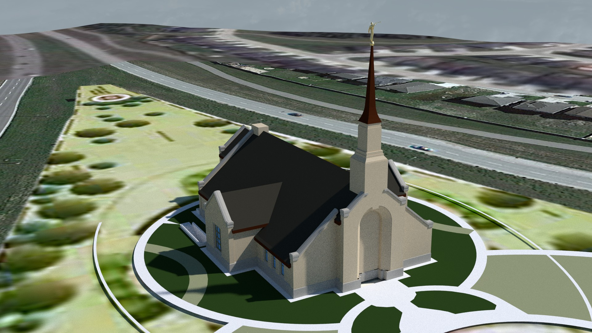 Winnipeg Manitoba Temple Early rEnder