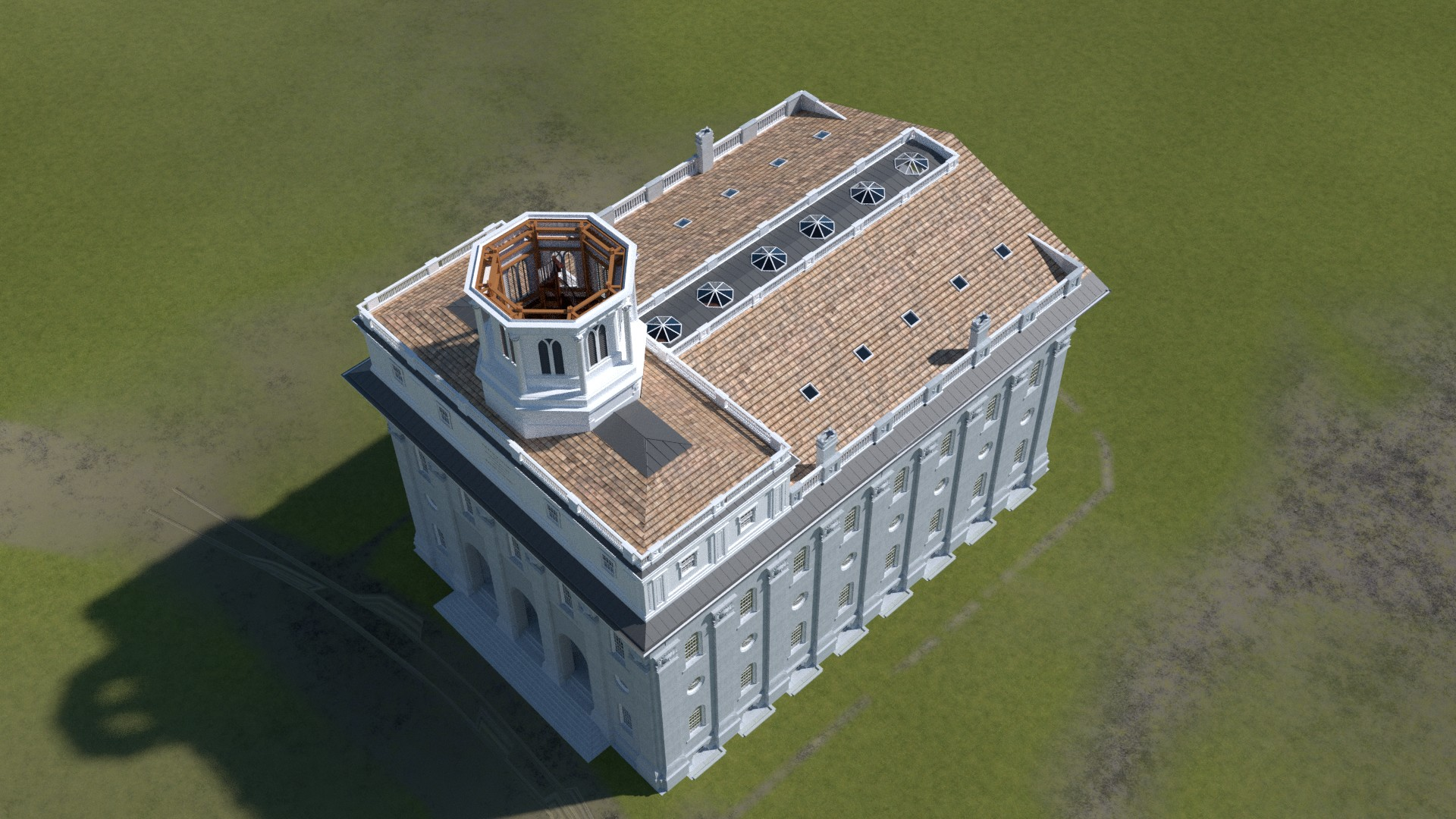 Original Nauvoo Temple Roof and tower base
