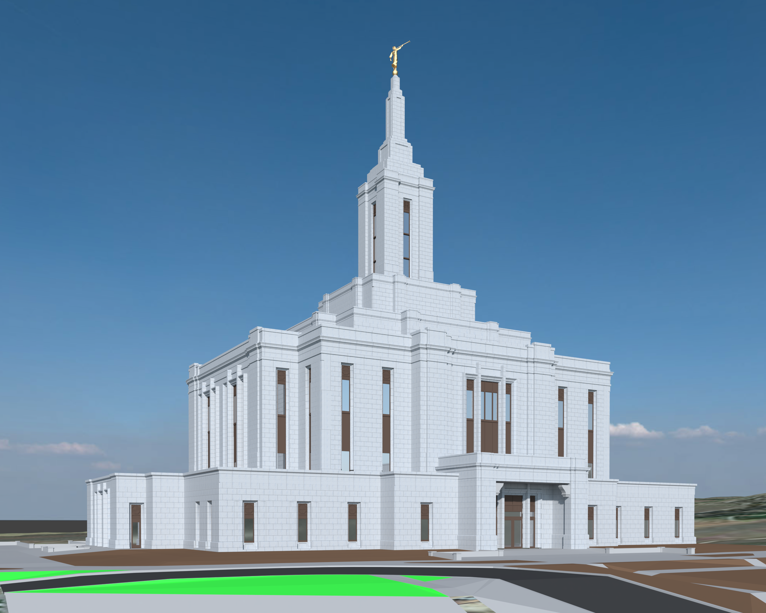 Pocatello Idaho Temple model fan edit draft